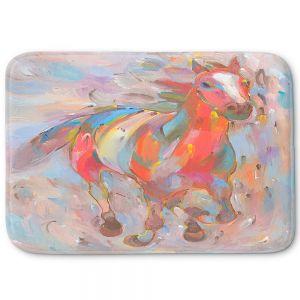 Decorative Bathroom Mats   Hooshang Khorasani - Red Runner Horses