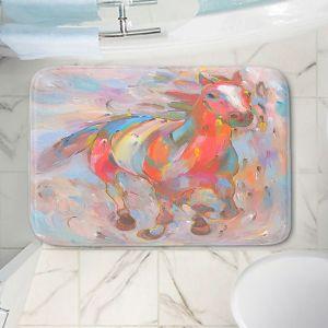 Decorative Bathroom Mats | Hooshang Khorasani - Red Runner Horses
