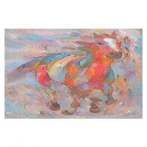 Decorative Floor Coverings | Hooshang Khorasani Red Runner Horse