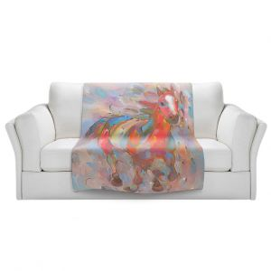 Artistic Sherpa Pile Blankets | Hooshang Khorasani Red Runner Horse