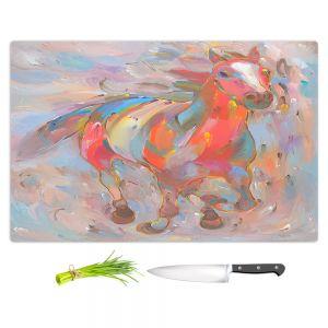 Artistic Kitchen Bar Cutting Boards | Hooshang Khorasani - Red Runner Horse