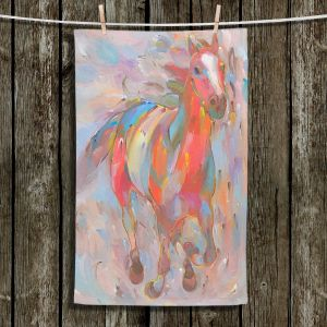 Unique Hanging Tea Towels | Hooshang Khorasani - Red Runner Horses | Animals Horse