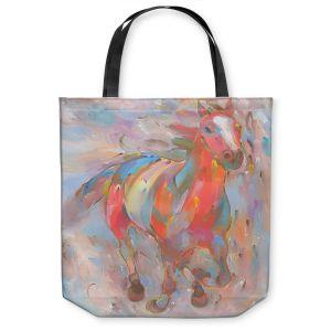 Unique Shoulder Bag Tote Bags | Hooshang Khorasani Red Runner Horse