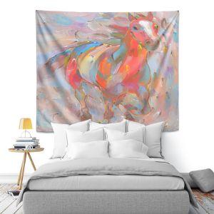 Artistic Wall Tapestry | Hooshang Khorasani Red Runner Horse