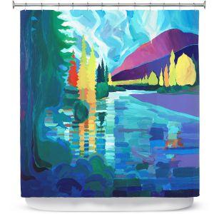 Premium Shower Curtains | Hooshang Khorasani Reflection of Tranquility