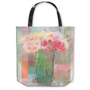 Unique Shoulder Bag Tote Bags | Hooshang Khorasani - Romantic Arrangement | still life painting flowers vase