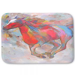 Decorative Bathroom Mats   Hooshang Khorasani - Smooth Runner I Horses