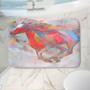 Decorative Bathroom Mats | Hooshang Khorasani - Smooth Runner I Horses