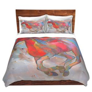 Artistic Duvet Covers and Shams Bedding | Hooshang Khorasani - Smooth Runner I Horses