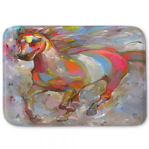 Decorative Bathroom Mats | Hooshang Khorasani - Smooth Runner II Horses
