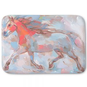 Decorative Bathroom Mats | Hooshang Khorasani - Smooth Runner III Horses