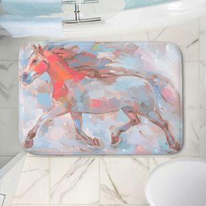 Decorative Bathroom Mats | Hooshang Khorasani - Smooth Runner III Horses