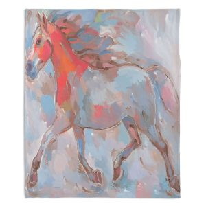 Artistic Sherpa Pile Blankets | Hooshang Khorasani Smooth Runner III Horse