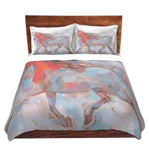 Artistic Duvet Covers and Shams Bedding | Hooshang Khorasani - Smooth Runner III Horses