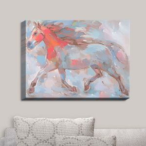 Decorative Canvas Wall Art | Hooshang Khorasani - Smooth Runner III Horses