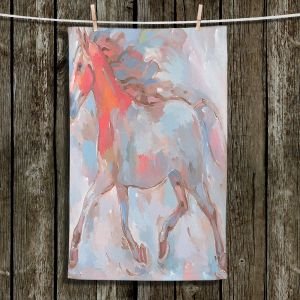 Unique Hanging Tea Towels | Hooshang Khorasani - Smooth Runner III Horses | Animals Horse