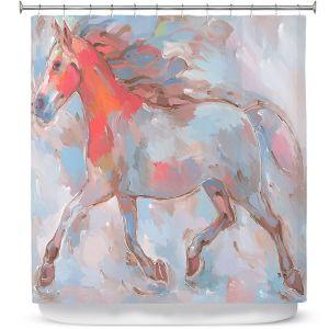 Premium Shower Curtains | Hooshang Khorasani Smooth Runner III Horse
