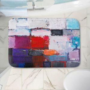 Decorative Bathroom Mats | Hooshang Khorasani - Snowfall | abstract geometric pattern painterly