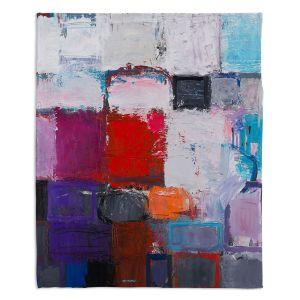 Decorative Fleece Throw Blankets | Hooshang Khorasani - Snowfall | abstract geometric pattern painterly