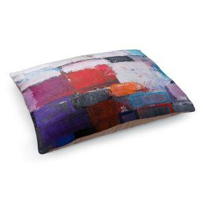 Decorative Dog Pet Beds | Hooshang Khorasani - Snowfall | abstract geometric pattern painterly