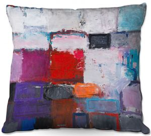 Throw Pillows Decorative Artistic | Hooshang Khorasani - Snowfall | abstract geometric pattern painterly