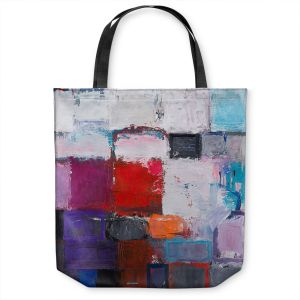 Unique Shoulder Bag Tote Bags | Hooshang Khorasani - Snowfall | abstract geometric pattern painterly