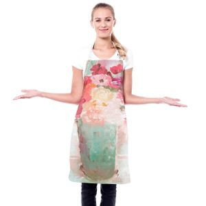 Artistic Bakers Aprons | Hooshang Khorasani - Special Occasion | still life painting flowers vase