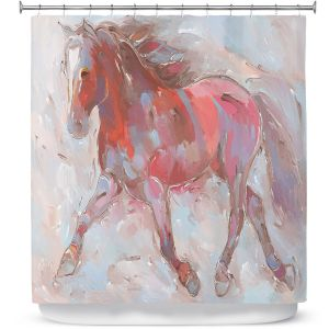 Premium Shower Curtains | Hooshang Khorasani - Steed With Style Horse
