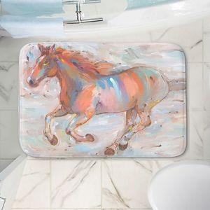 Decorative Bathroom Mats | Hooshang Khorasani - Stormy Racer Horses