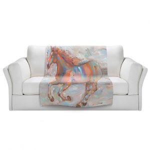 Artistic Sherpa Pile Blankets | Hooshang Khorasani Stormy Racer Horse