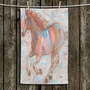 Unique Hanging Tea Towels | Hooshang Khorasani - Stormy Racer Horses | Animals Horse