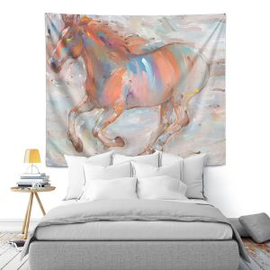 Artistic Wall Tapestry | Hooshang Khorasani Stormy Racer Horse