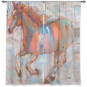 Decorative Window Treatments | Hooshang Khorasani Stormy Racer Horse
