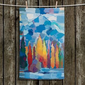 Unique Hanging Tea Towels   Hooshang Khorasani - Streamside Gathering   mountain forest trees