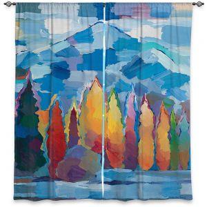 Decorative Window Treatments | Hooshang Khorasani - Streamside Gathering | mountain forest trees