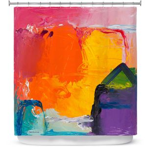 Unique Shower Curtain from DiaNoche Designs by Hooshang Khorasani - Sunny Side