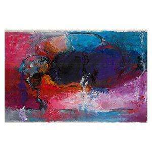 Decorative Floor Covering Mats | Hooshang Khorasani - Sunset Abstraction | abstract brushstroke
