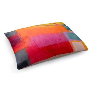 Decorative Dog Pet Beds | Hooshang Khorasani - Sunset | geometric abstract square