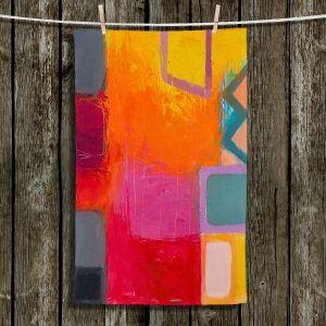 Unique Bathroom Towels | Hooshang Khorasani - Sunset | geometric abstract square