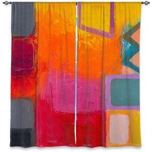 Decorative Window Treatments   Hooshang Khorasani - Sunset   geometric abstract square
