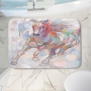 Decorative Bathroom Mats | Hooshang Khorasani - Takin the Turn Horses