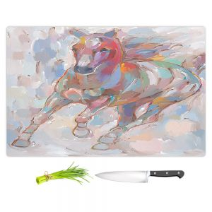 Artistic Kitchen Bar Cutting Boards | Hooshang Khorasani - Takin the Turn Horses