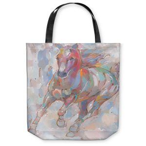 Unique Shoulder Bag Tote Bags | Hooshang Khorasani - Takin' the Turn Horse