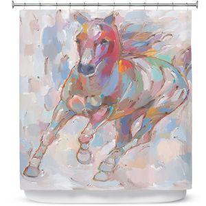 Premium Shower Curtains | Hooshang Khorasani - Takin' the Turn Horse