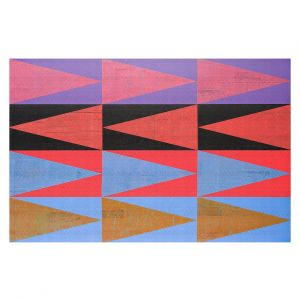 Decorative Floor Covering Mats | Hooshang Khorasani - Three Dozen | geometry pattern triangle repetition