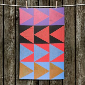Unique Bathroom Towels | Hooshang Khorasani - Three Dozen | geometry pattern triangle repetition