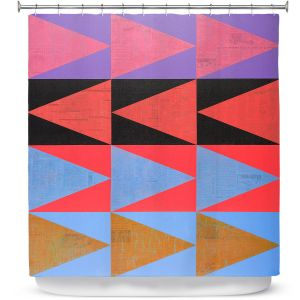 Premium Shower Curtains | Hooshang Khorasani - Three Dozen | geometry pattern triangle repetition
