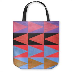 Unique Shoulder Bag Tote Bags | Hooshang Khorasani - Three Dozen | geometry pattern triangle repetition