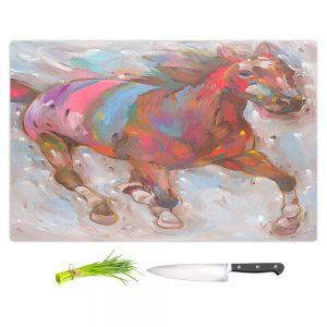 Artistic Kitchen Bar Cutting Boards   Hooshang Khorasani - Wind Racer Horse