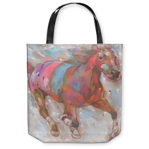 Unique Shoulder Bag Tote Bags | Hooshang Khorasani Wind Racer Horse